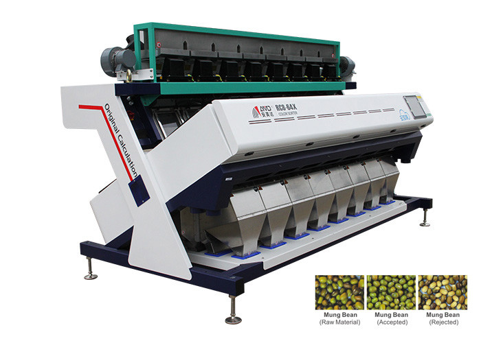 RC8 Model Bean Color Sorter Machine Identify Micro Defects Lower Energy Consumption