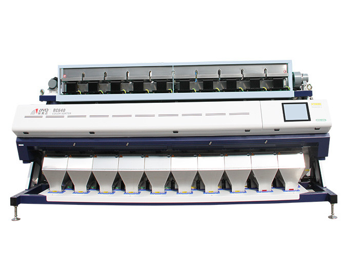 Intelligent Control Corn Color Sorter 360 Degree Cyclone Suction White Color