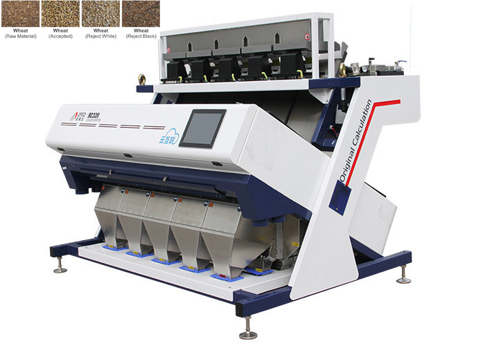 RC5 Wheat Color Sorter Machine , 2.5-15 T/H 1030KG Weight Ccd Rice Color Sorter